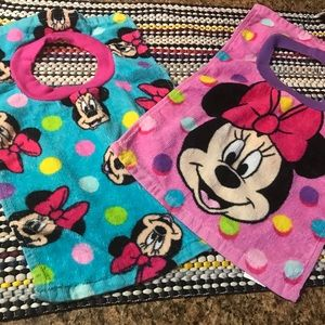 Minnie towel bibs